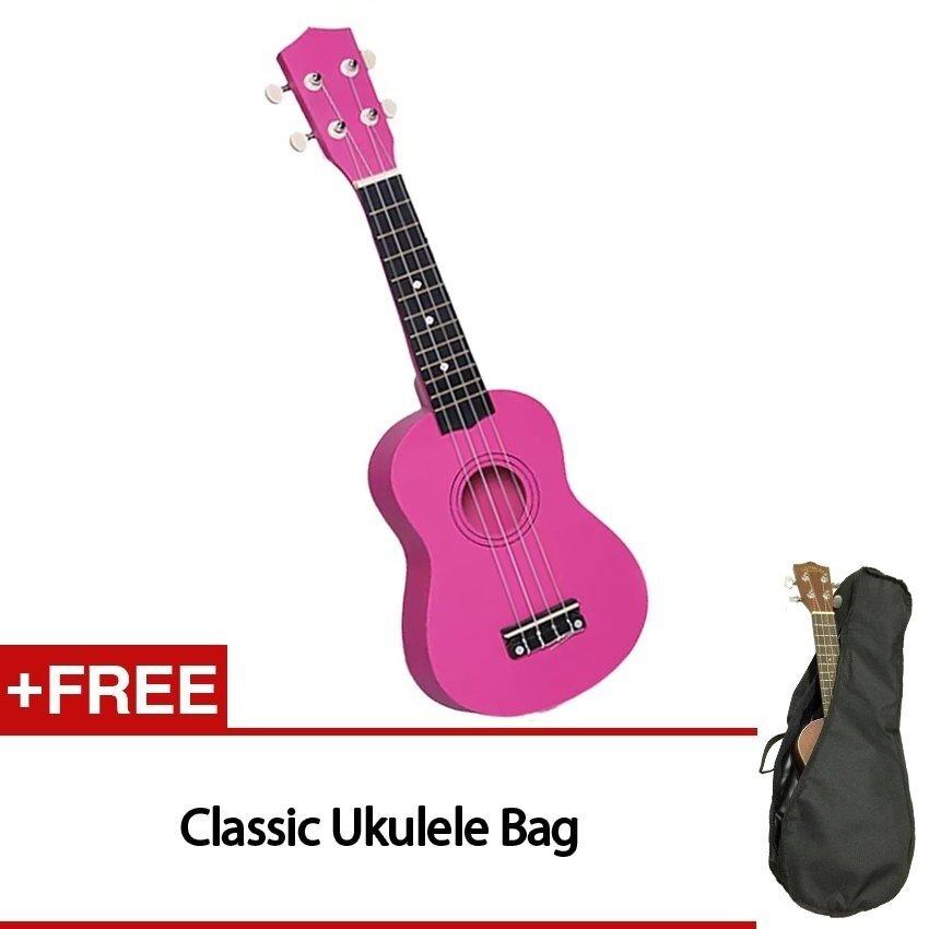21 inch Ukulele 15 Frets Soprano Ukulele Guitar Uke Sapele 4 Strings Hawaiian Guitar for beginners with Free Bags - intl