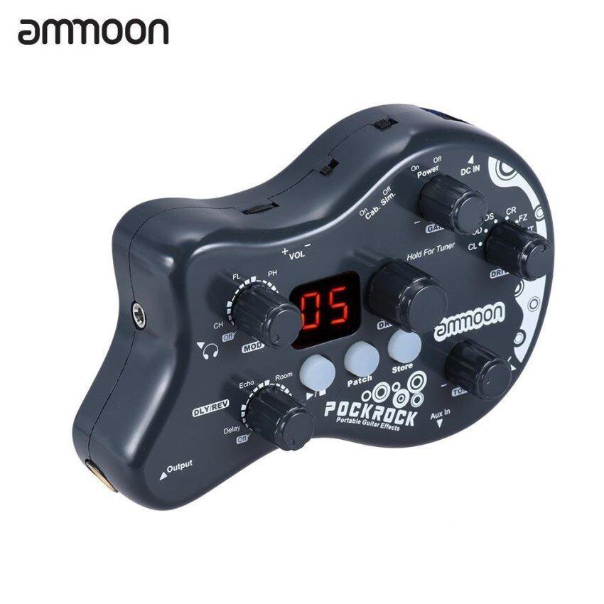 ขาย ammoon PockRock Portable Guitar Multi-effects Processor Effect Pedal 15 Effect Types 40 Drum Rhythms Tuning Function with Power Adapter - intl