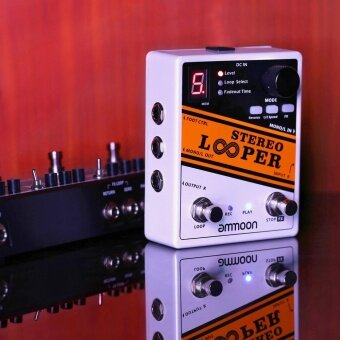 ammoon STEREO LOOPER Loop Record Guitar Effect Pedal 10 Independent Loops Max. 10min Recording Time for Each Loop Unlimited Overdubbing - intl