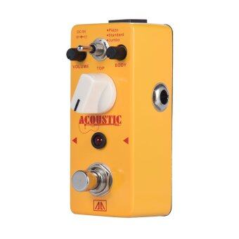 AROMA AAS-5 Acoustic Guitar Simulator Effect Pedal 3 Modes Aluminum Alloy Body True Bypass - intl