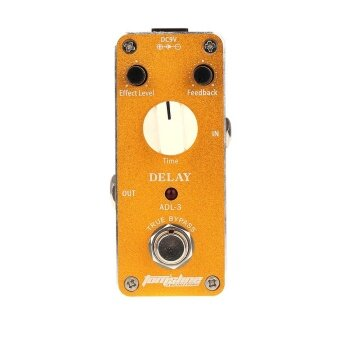 Aroma ADL-3 Mini Delay Electric Guitar Effect Pedal with FastenerTape Aluminum Alloy Housing True Bypass - intl