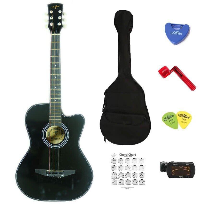 ลดด่วนAt First กีตาร์โปร่ง Acoustic Guitar 38