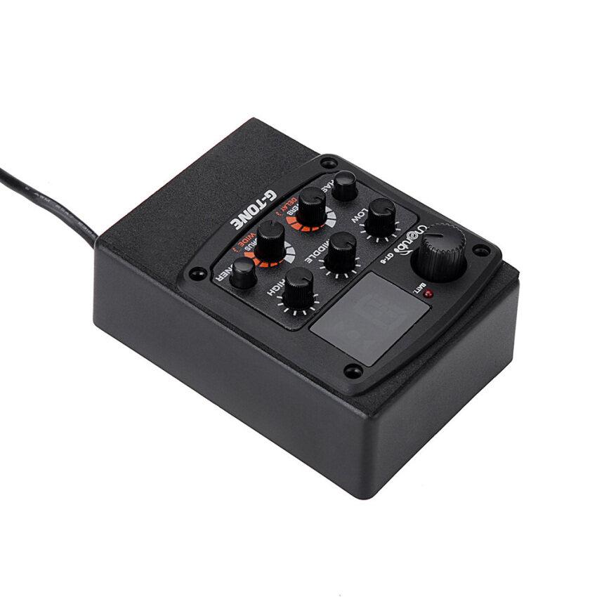 ลดด่วนCherub G-Tone GT-6 Acoustic Guitar Preamp Piezo Pickup 3-Band EQEqualizer LCD Tuner with Reverb/Delay/Chorus/Wide Effects มาซื้อเร็ว
