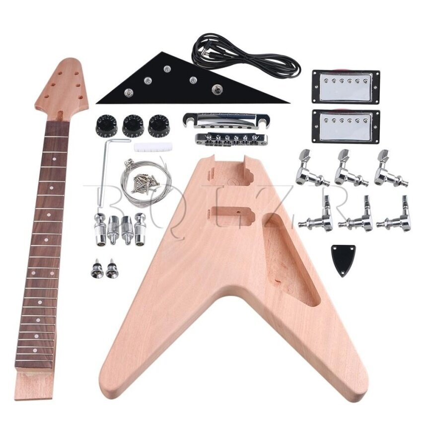 Closed Pickup DIY Unfinished Electric Guitar Builder Kit - intl