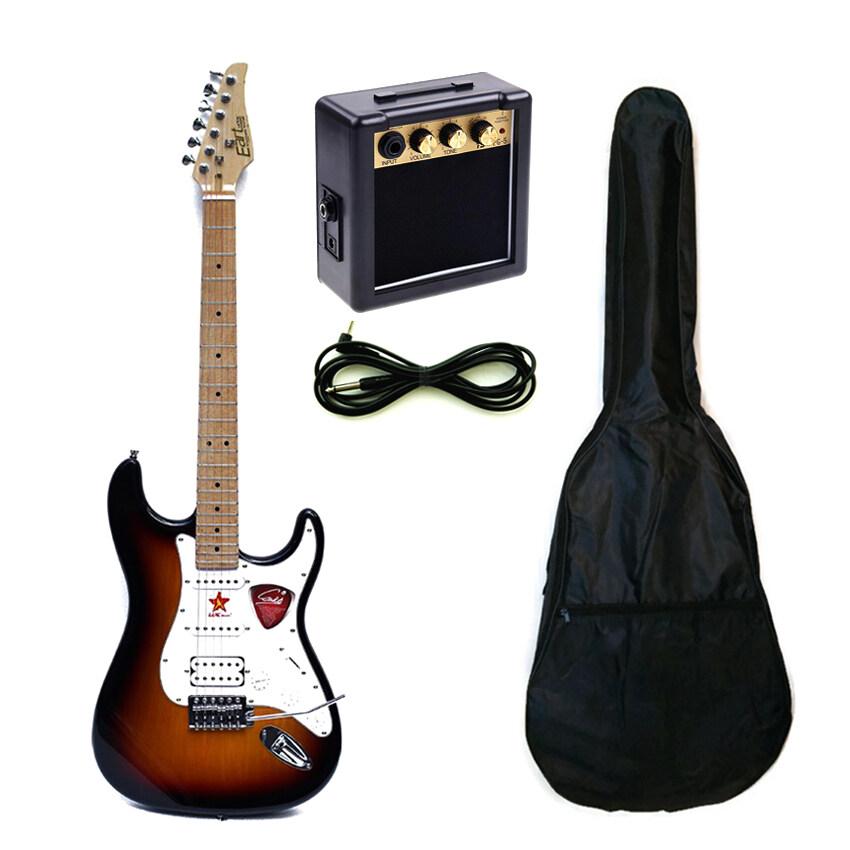 Eartกีต้าร์ไฟฟ้า รุ่นAL112-สีซันเบิร์ด+กระเป๋ากีต้าร์ไฟฟ้า+สายแจ็ค+PG5แอมป์กีต้าร์Mini Amp