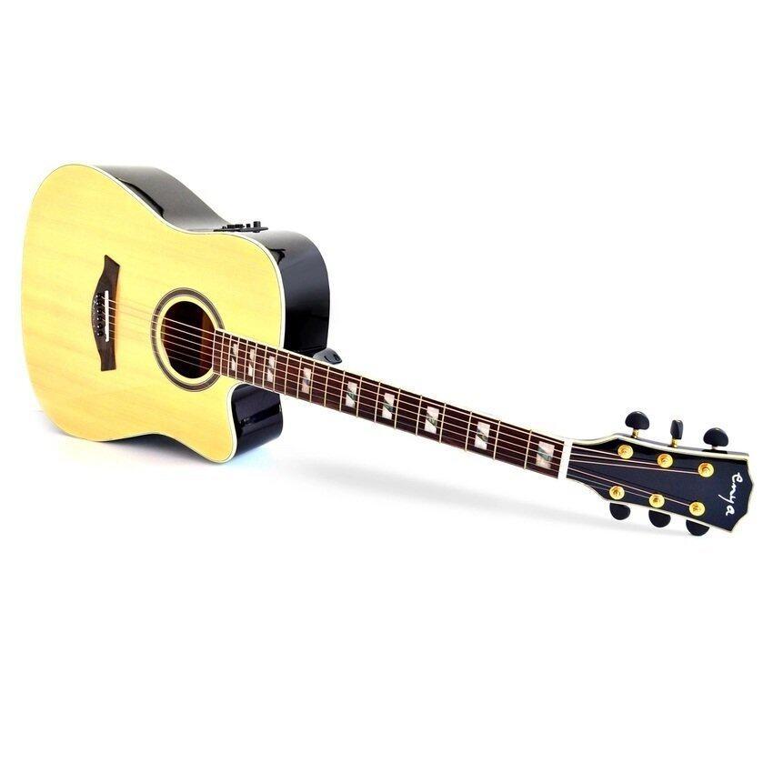 Enya ED18 Acoustic Guitar + Pre-amp G-Tone 4 กีตาร์โปร่ง Full Size 41นิ้ว ทรง Dreadnought (Natural)