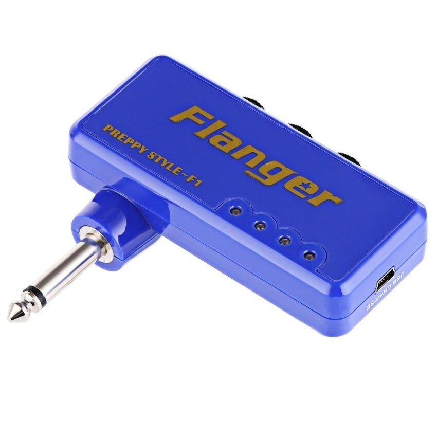 Flanger F1 Miniature Headphone Guitar AMP Amplifier (Blue) - intl