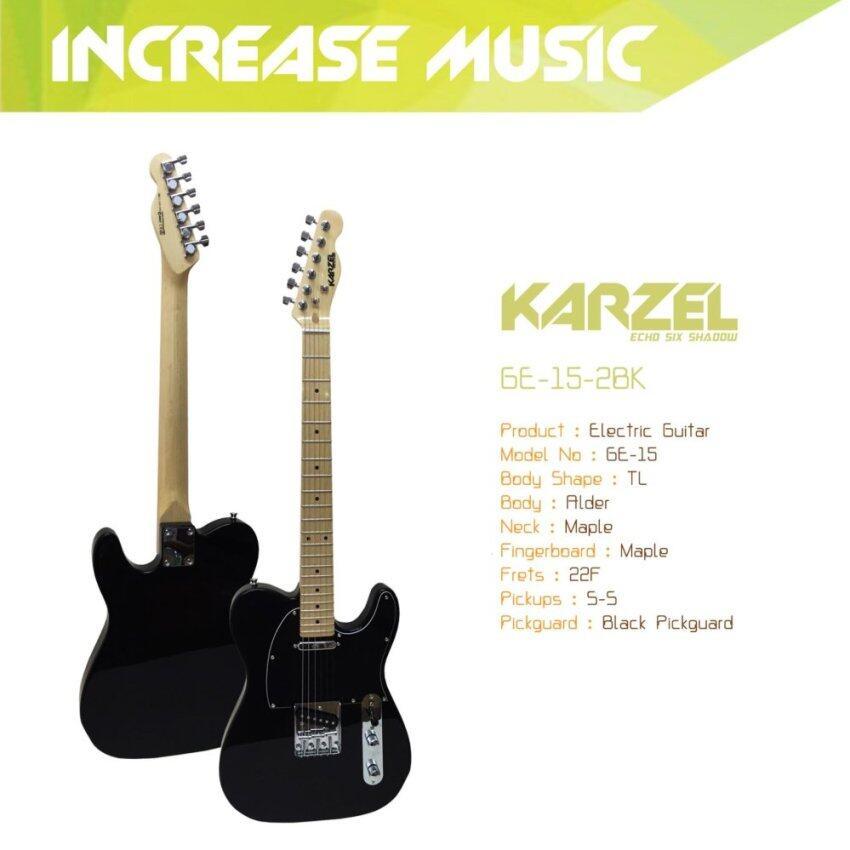 Karzel กีต้าร์ไฟฟ้า ทรง TL สีดำ GE-15
