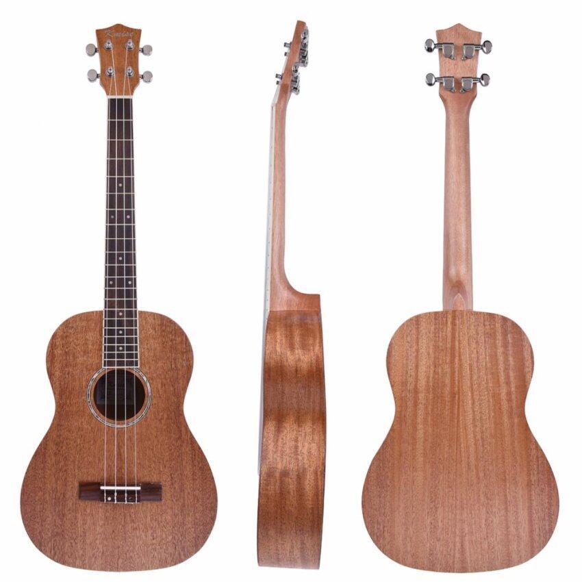 Kmise Mahogany Baritone Ukulele Hawaii Guitar 30 inch Abalone Soundhole Rosette Matt - intl