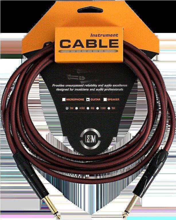 ลดด่วนLEEM สายแจ็ค Guitar Cable 10ft.3m.O.D-6.5mm. LRG-X1-3 SS มาซื้อเร็ว