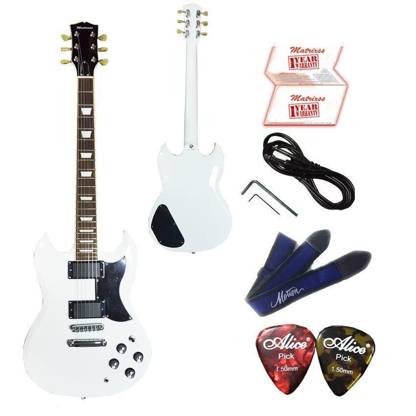 Matrixss กีตาร์ไฟฟ้า Electric Guitar รุ่น SG-30BK + สายสะพายกีตาร์ + สายแจ็ค + ปิ๊ก*2 + ใบรับประกัน