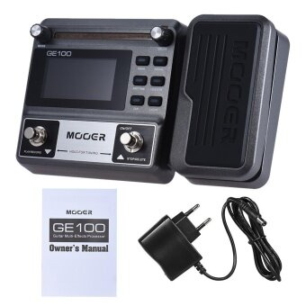 MOOER GE100 Guitar Multi-effects Processor Effect Pedal with Loop Recording(180 Seconds) Tuning Tap Tempo Rhythm Setting Scale & Chord Lesson Functions - intl