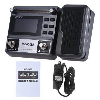 MOOER GE100 Guitar Multi-effects Processor Effect Pedal with Loop Recording(180 Seconds) Tuning Tap Tempo Rhythm Setting Scale & Chord Lesson Functions Outdoorfree - intl