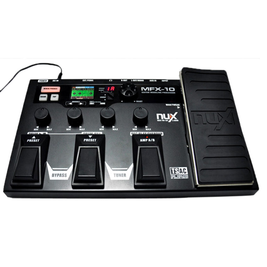 NUX MFX-10 Modeling Guitar Processor Guitar Effect Pedal Drum Recorder 55 Effect 72 Preset Multi-function