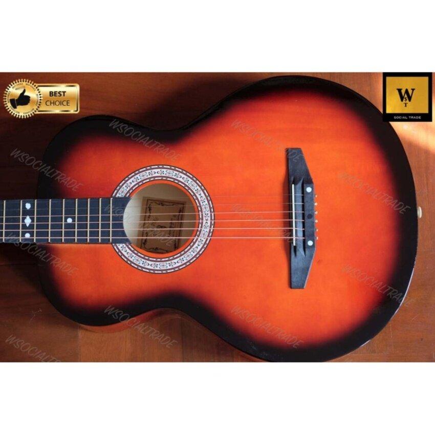 Overspeed Acoustic Guitar กีต้าร์โปร่ง OS-38 (Sunburst Color) (สีซันเบิร์ซ)