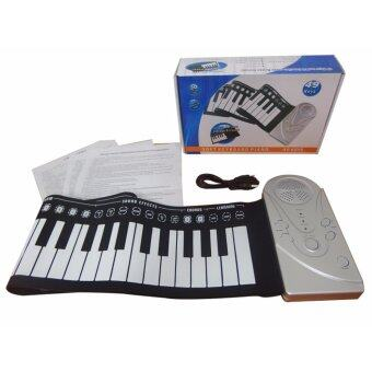 Piano เปียโนดิจิตอล เปียโนพกพา เปียโนไฟฟ้า พับได้ คีย์บอร์ด คีร์บอร์ด 49key