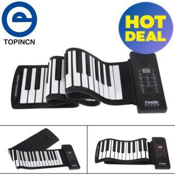 Portable 61-Keys Roll up Soft Silicone Flexible Electronic DigitalMusic Keyboard Piano New - intl