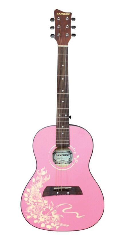 """SANCHEZ กีต้าร์โปร่ง 36"""" 14 ข้อ (Sanchez) MG-354/5401 - Pink"""