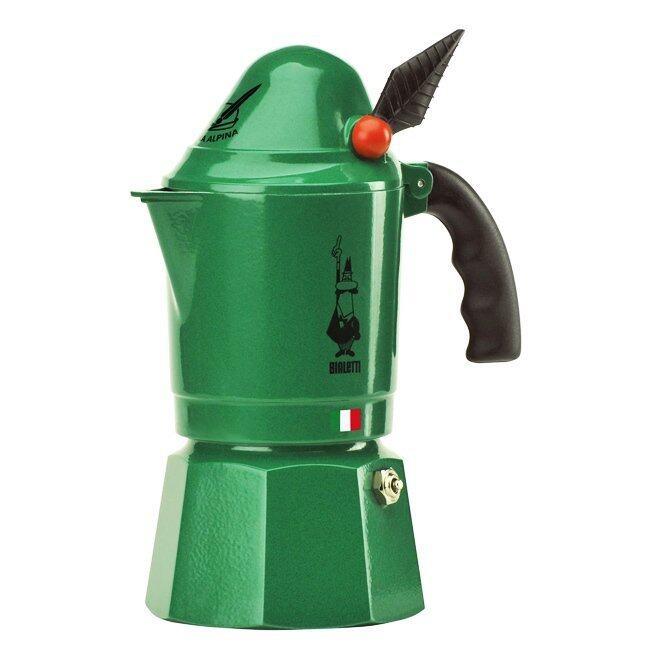 Bialetti หม้อต้มกาแฟสด Made in Romania รุ่น Moka Alpina ( green ) ...