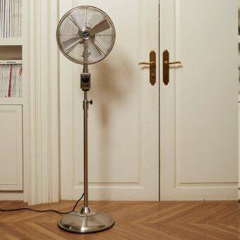 """พัดลมเหล็ก Bungalow Stand Fan 12"""" 3 Speed (Nickel Grill / Nickel Base)"""