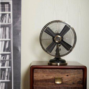 """พัดลมเหล็ก Bungalow Table Fan 12"""" 3 Speed (Bronze Grill / Black Base)"""