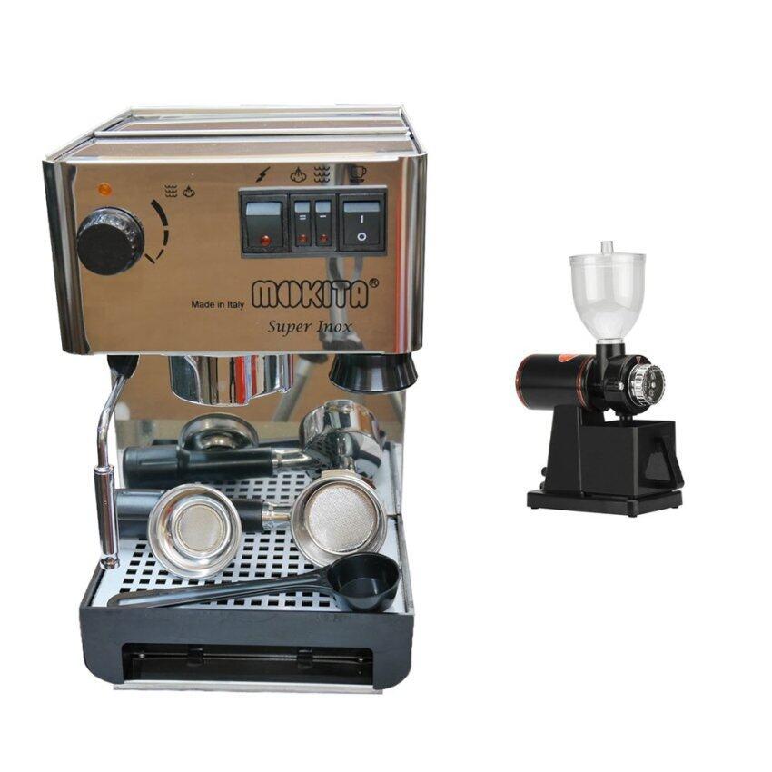 CoffeeIndy ชุดเครื่องชงกาแฟ Imat Mokita คู่เครื่องบดกาแฟ 600n