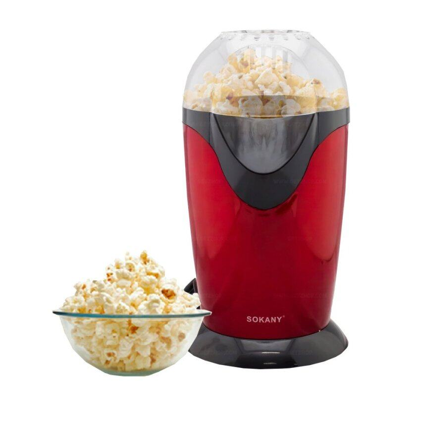 GetZhop เครื่องทำข้าวโพดคั่ว ป๊อบคอร์น Popcorn Makers รุ่น SOKANY (Red) ...