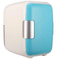 Hits ตู้เย็นเล็กแบบพกพา รุ่น Mini 4L (สีฟ้า/ขาว)
