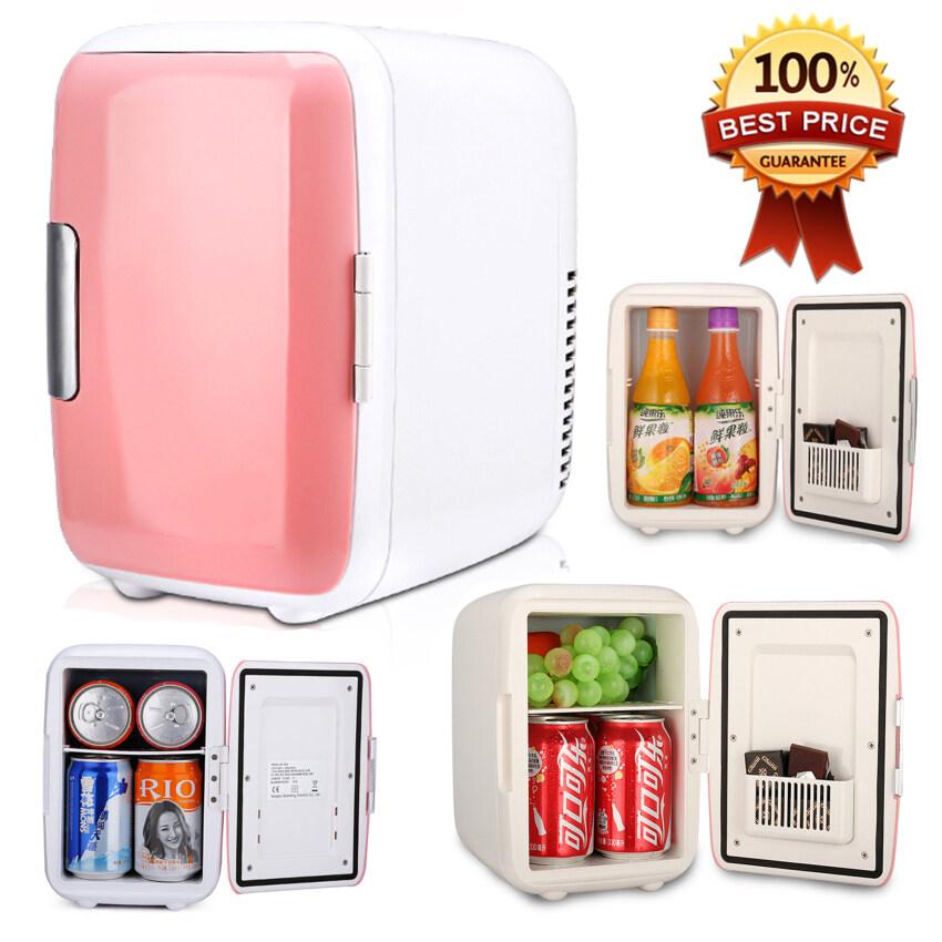 Hot item 4L Mini Refrigerator ตู้เย็นมินิแบบพกพา 4 ลิตร - Pink Series