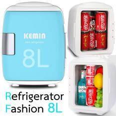 Hot item Mini-Refrigerator Fashion 8L ตู้เย็นแฟชั่นมินิ 8 ลิตร (ไฟบ้าน+ไฟรถ)- Light Blue