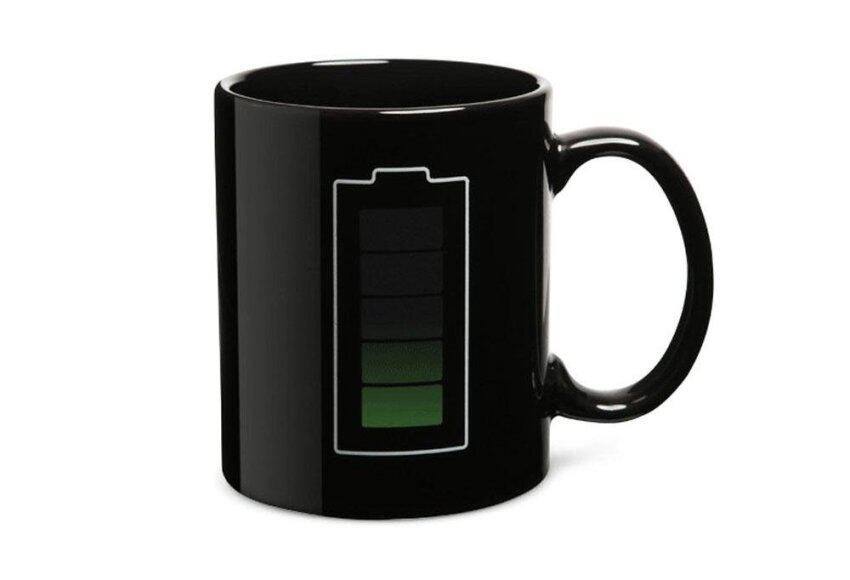 huiying Battery Color Thermometer Heat Changing Mug Cup Glass,Black - intl