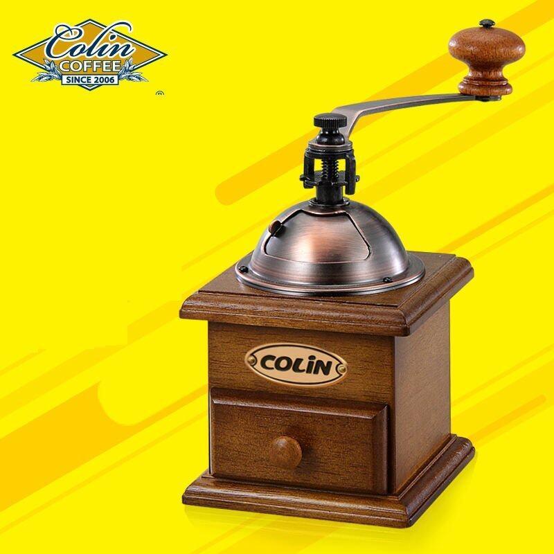 ISIUR-EU839W DJSDJICeramic Manual Coffee Beans Mill Nut Spice Hand Grinder Stainless Steel Vintage - intl