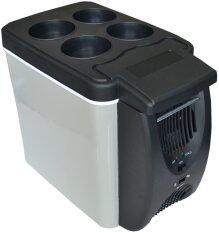 IT and Home ตู้เย็นติดรถยนต์ ตู้เย็นพกพา 6 ลิตร ใช้ได้ทั้งไฟบ้านและไฟรถ - สีดำ