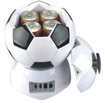 ITandHome ตู้ขนาดเล็ก ทรงลูกฟุตบอล ขนาด 3.5 ลิตร - สีดำ/ขาว
