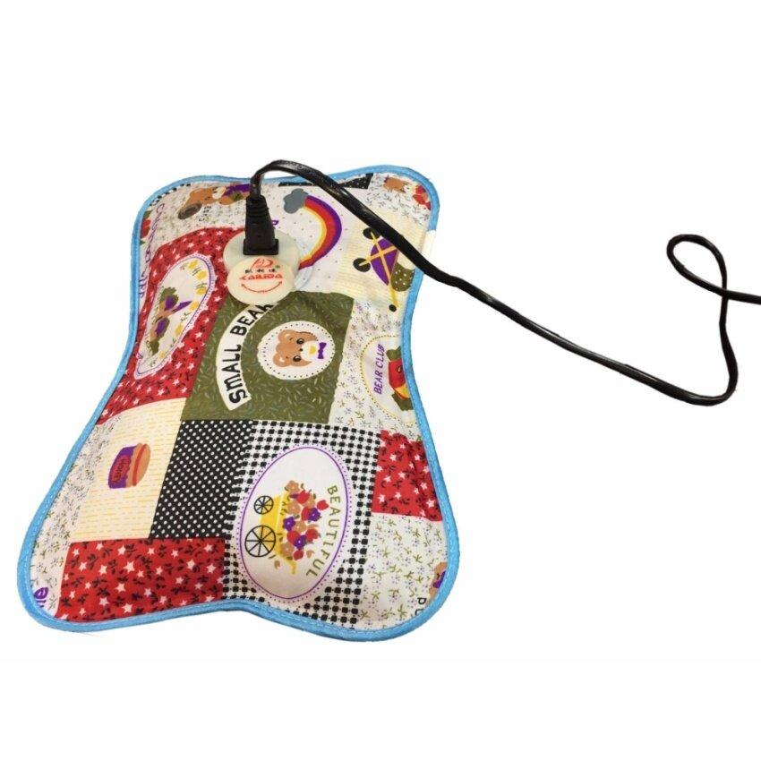 LAENINN กระเป๋าน้ำร้อนไฟฟ้าพกพา / หมอนน้ำร้อนไฟฟ้า / ถุงน้ำร้อน 28 x 18 เซนติเมตร (คละสี ...