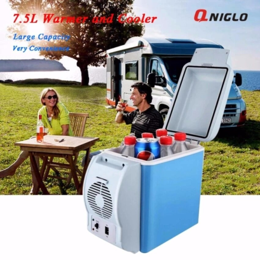 QNIGLO 7.5L Plug in Cooler and Warmer Electric Portable Travel Foods and Drinks Refriger ...
