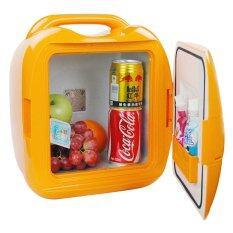 Shop108 ตู้เย็นขนาดเล็กแบบพกพา - รุ่น CB-D008 ขนาด 7.8 ลิตร สีส้ม