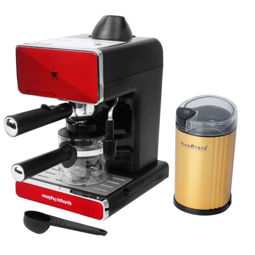 shop999 เครื่องชงกาแฟ รุ่น MR-4658 พร้อม เครื่องบดกาแฟ รุ่น NT-CF91 (สีทอง)