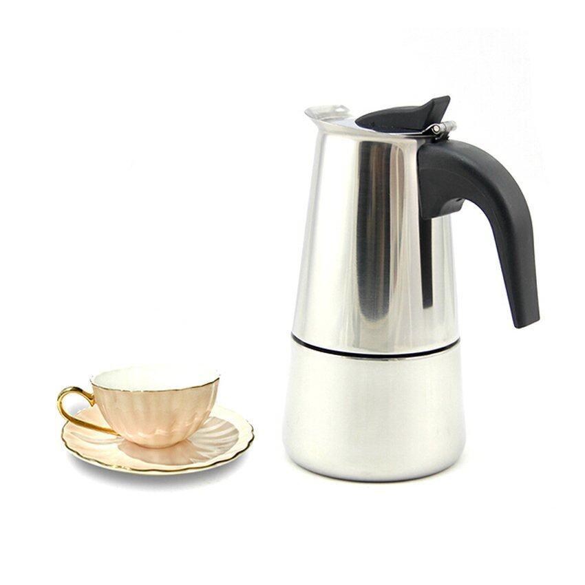 Stainless Steel Moka Espresso Latte Coffee Maker (Silver) - intl