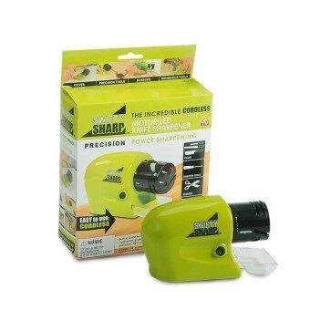 ที่ลับมีดไฟฟ้า Swifty Sharp เอนกประสงค์ (สีเขียว) สำหรับลับมีด ลับของมีคมลับกรรไกรลับไขควง เขียว