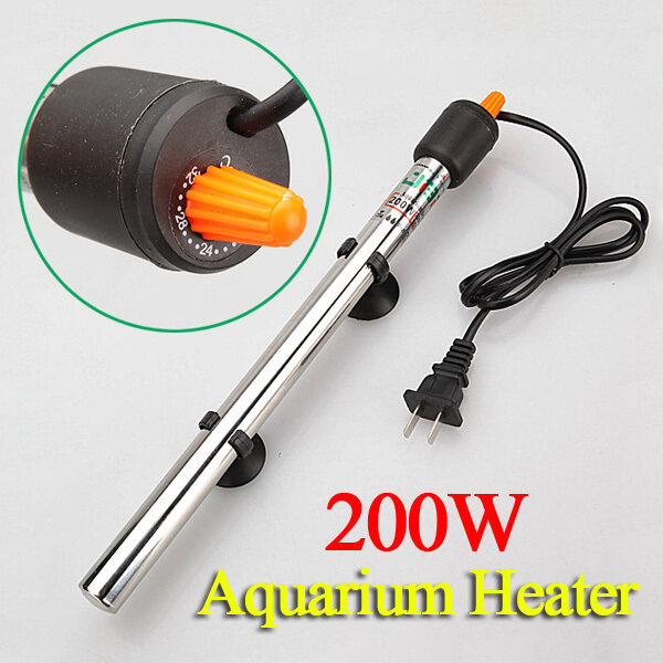 200w Submersible Stainless Steel Water Heater Rod Aquarium Fish Tank - intl ...