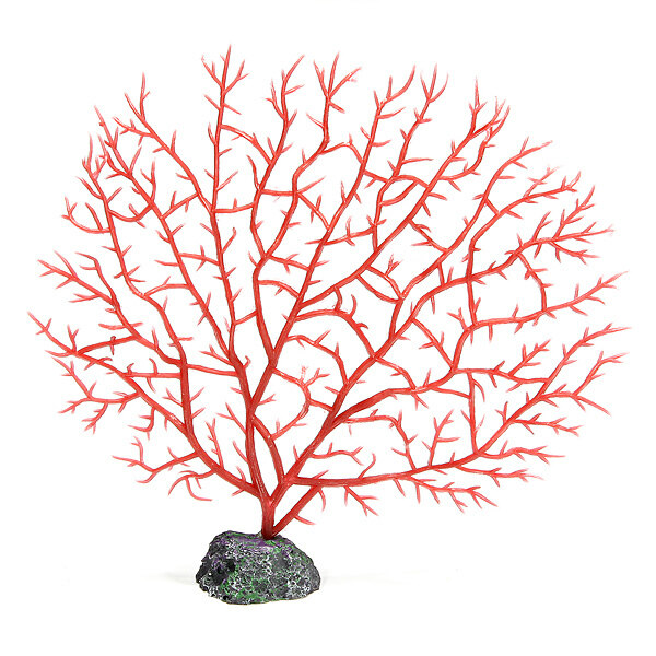Aquarium Fish Tank PVC Resin Red Coral Ornament Underwater Plant Tree Decor - intl ...