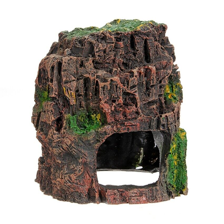 Aquarium Fish Tank Vivarium Ornament Rockery Hiding Cave Hide Den Hollow Decor - intl ...