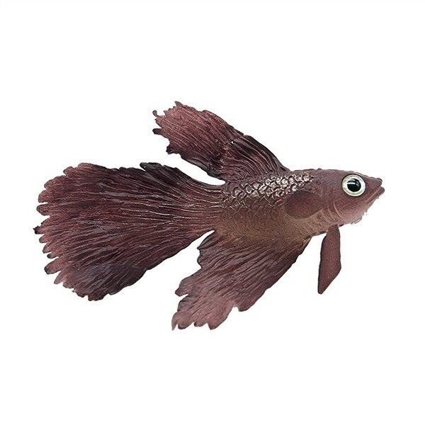Artificial Silicone Soft Glowing Effect Betta Aquarium Fish Tank Decor (Brown) - intl ...
