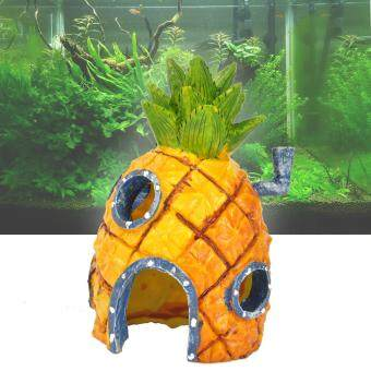 Spongebob Squarepants Ornament Pineapple House Fish Tank Aquarium Decor 14cm - intl