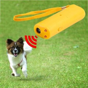 Training Device with LED 3 in 1 Anti Barking Stop Bark UltrasonicDog Repeller - intl