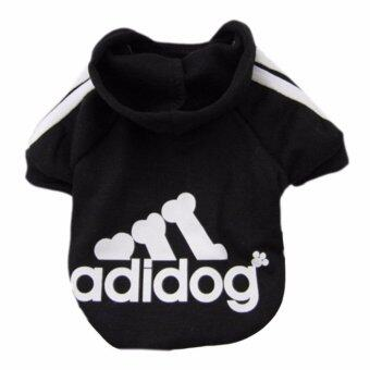 YingWei Dog Pet Cat Sweater Hoody Coat Jacket Puppy clothes L(Black) - intl