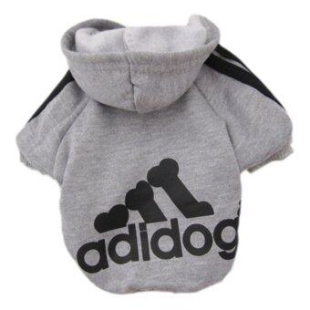 YingWei Dog Pet Cat Sweater Hoody Coat Jacket Puppy clothes L(Grey) - intl