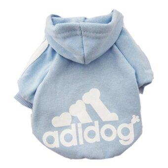 YingWei Dog Pet Cat Sweater Hoody Coat Jacket Puppy clothes M(Blue) - intl