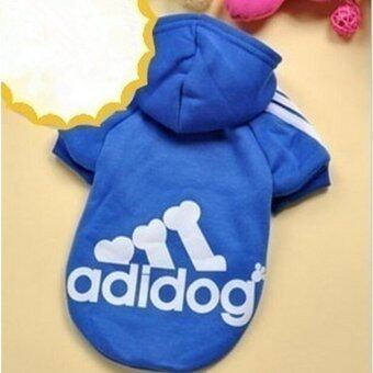 YingWei Dog Pet Cat Sweater Hoody Coat Jacket Puppy clothes M(Dark Blue) - intl